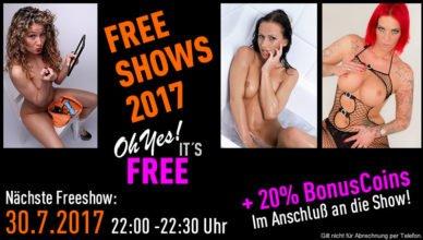 Freeshow auf JetztLive