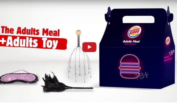 Sex-Spielzeug bei Burger King im Adult Meal